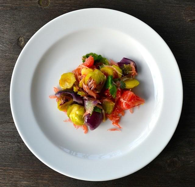 Rezept Salat mit Pomelo & Rosenkohl