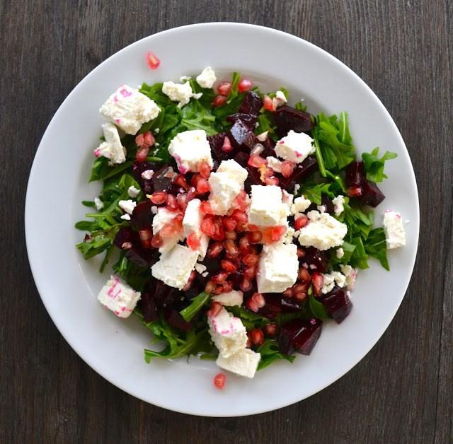 Rezept Salat mit Roter Bete, Schafskäse & Granatapfel