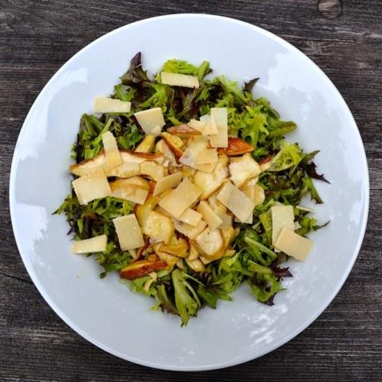 Rezept Salat mit Steinpilzen & Parmesan