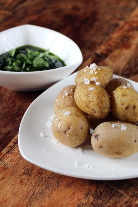 Rezept Salzkartoffeln mit Mojo Verde