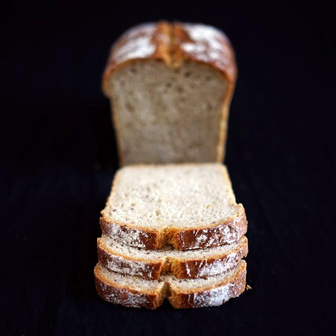 Rezept Sandwichbrot mit Roggenmehl, Kümmel und Gewürzgurken