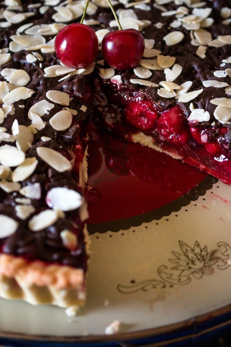 Rezept Sauerkirschkuchen mit Schokolade