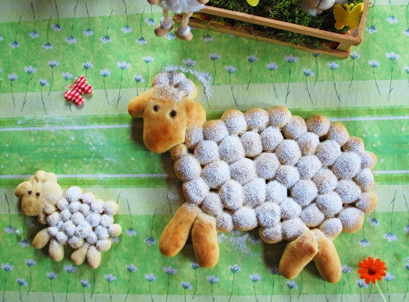 Rezept Schafe aus Hefeteig