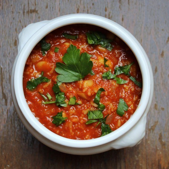 Rezept Scharfe Tomatensuppe mit Bohnen