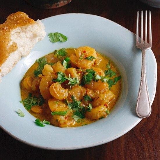 Rezept Scharfes Punjab-Garnelen-Curry nach Madhur Jaffrey