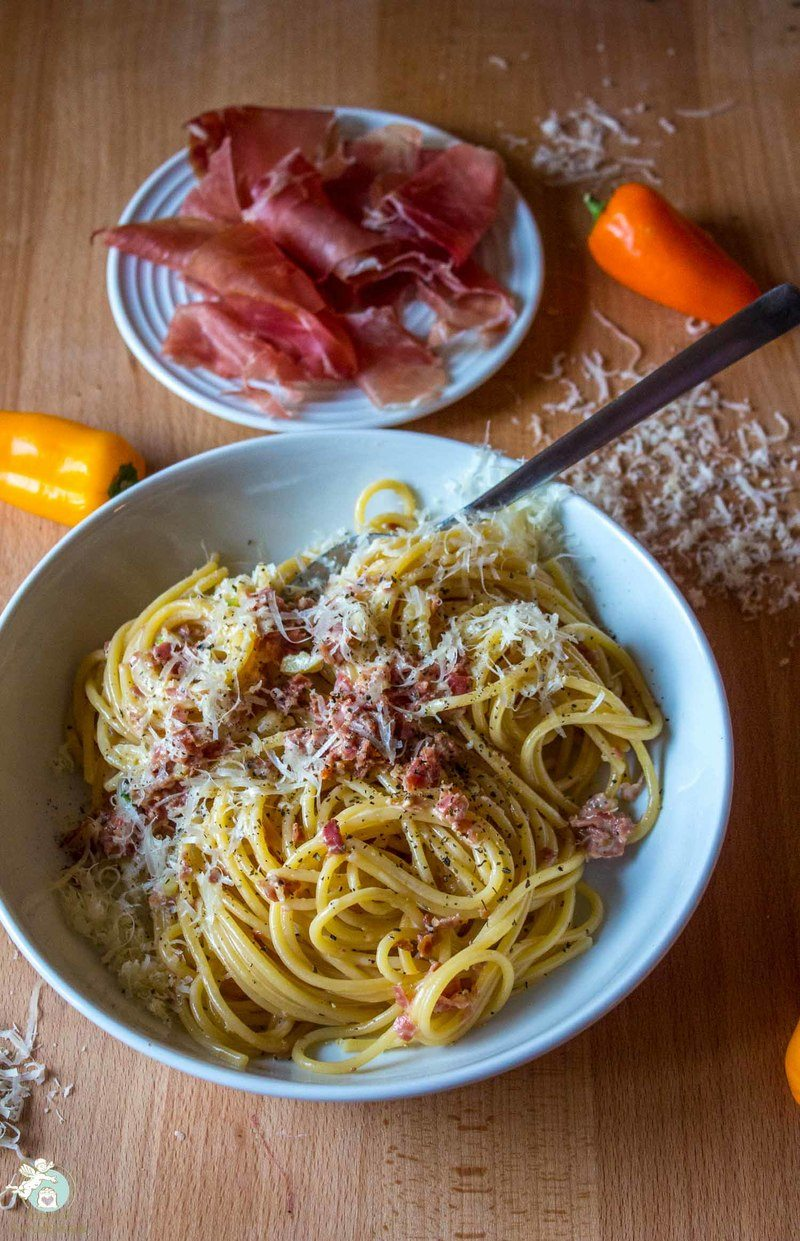 Rezept Schinkennudeln auf Italienisch - Spaghetti con prosciutto crudo