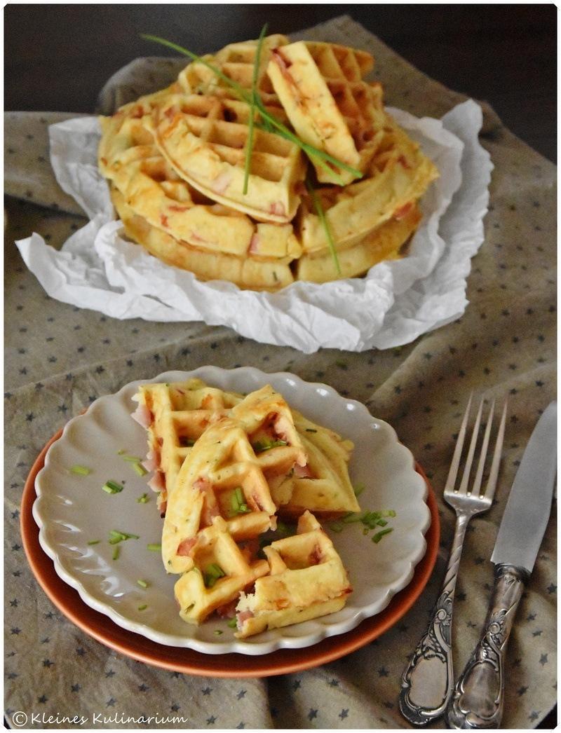 Rezept Schmandwaffeln mit Schinken und Käse