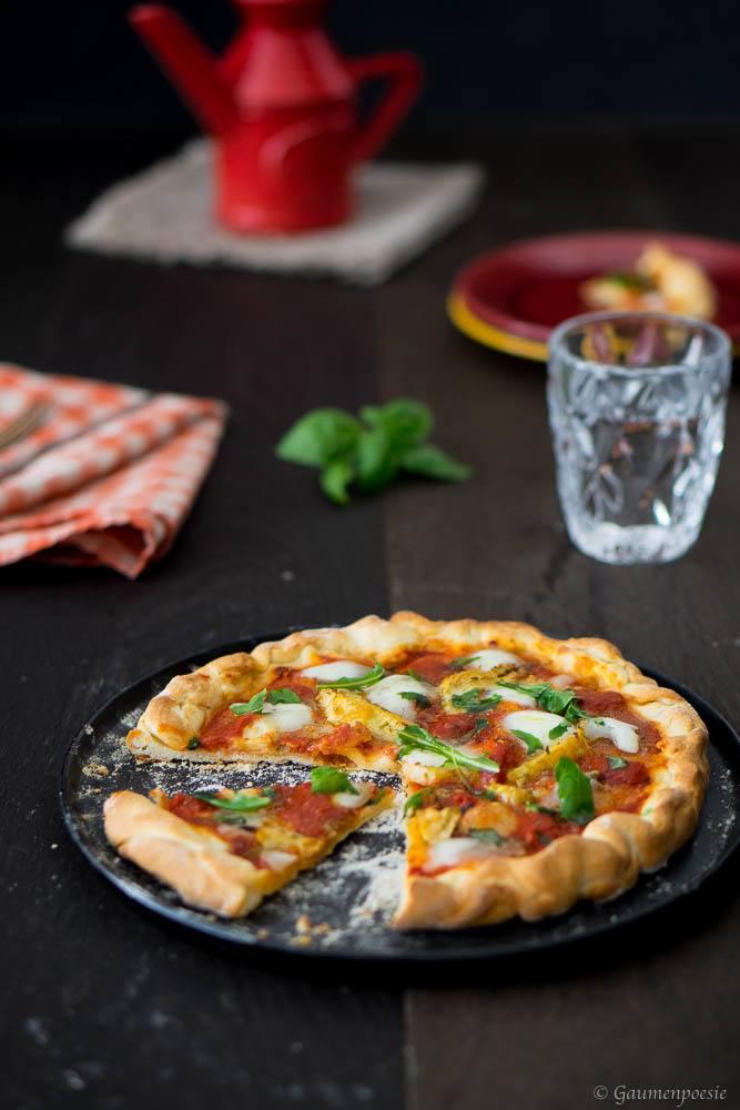 Rezept Schnell gemachte Pizza Napoli mit Artischocken