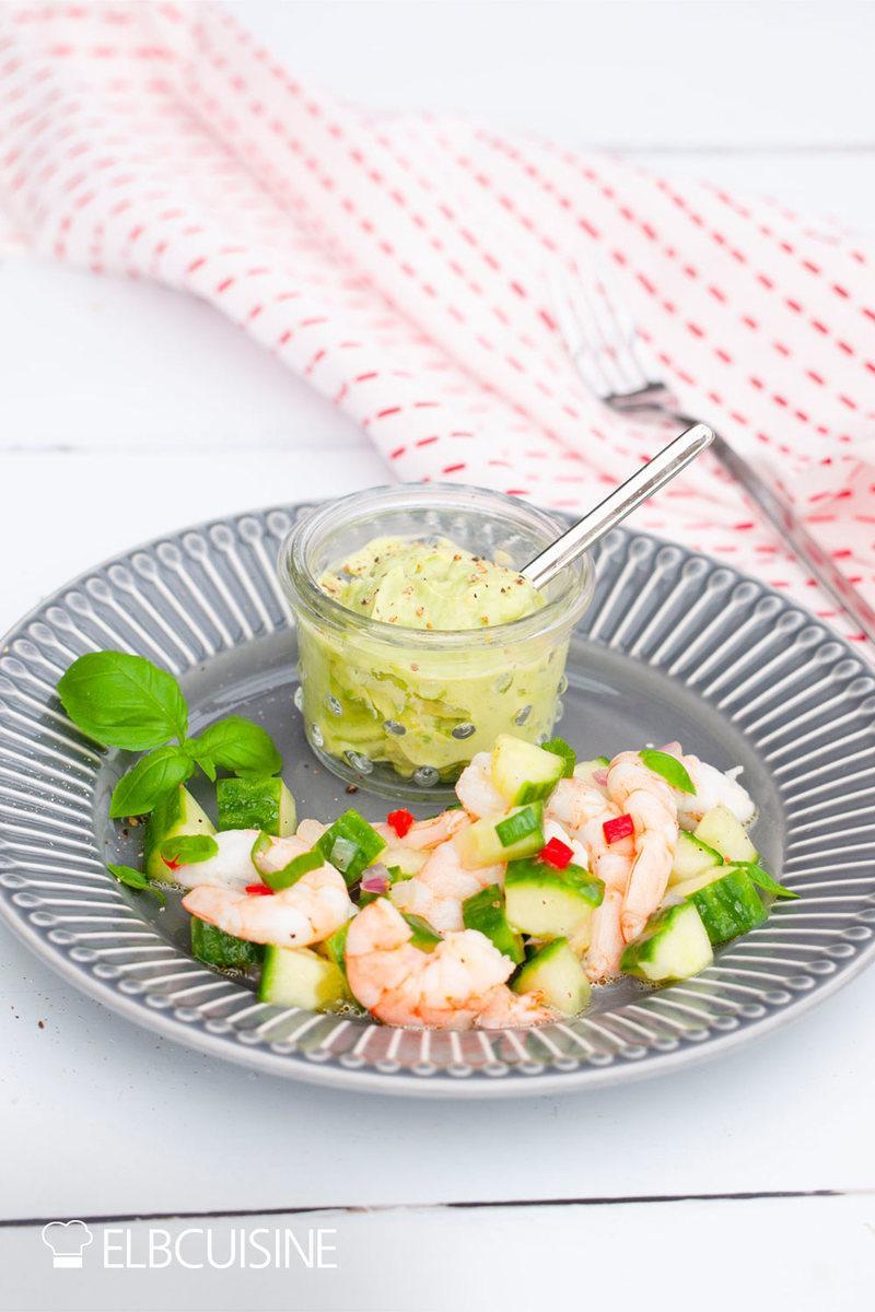 Rezept Schnelle Ceviche – Garnelensalat, frisch und lecker!