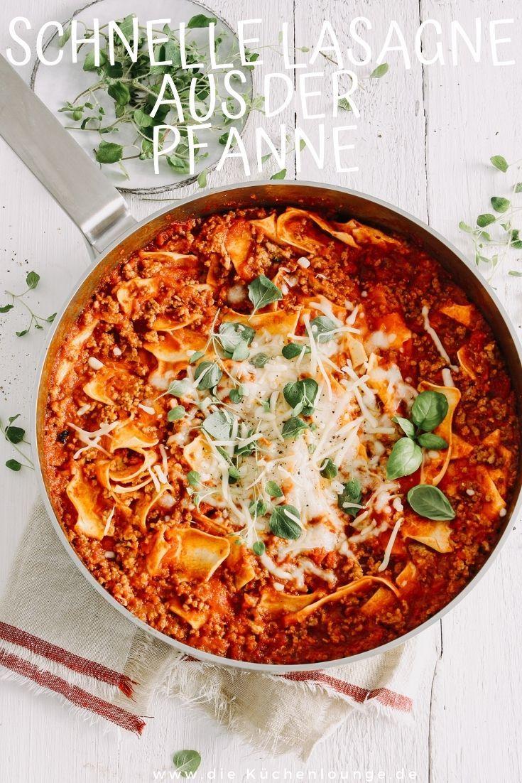 Rezept Schnelle Lasagne aus der Pfanne