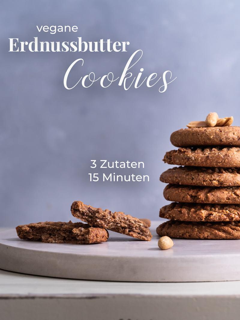 Rezept Schnelle und gesunde Erdnussbutter-Dattel Kekse