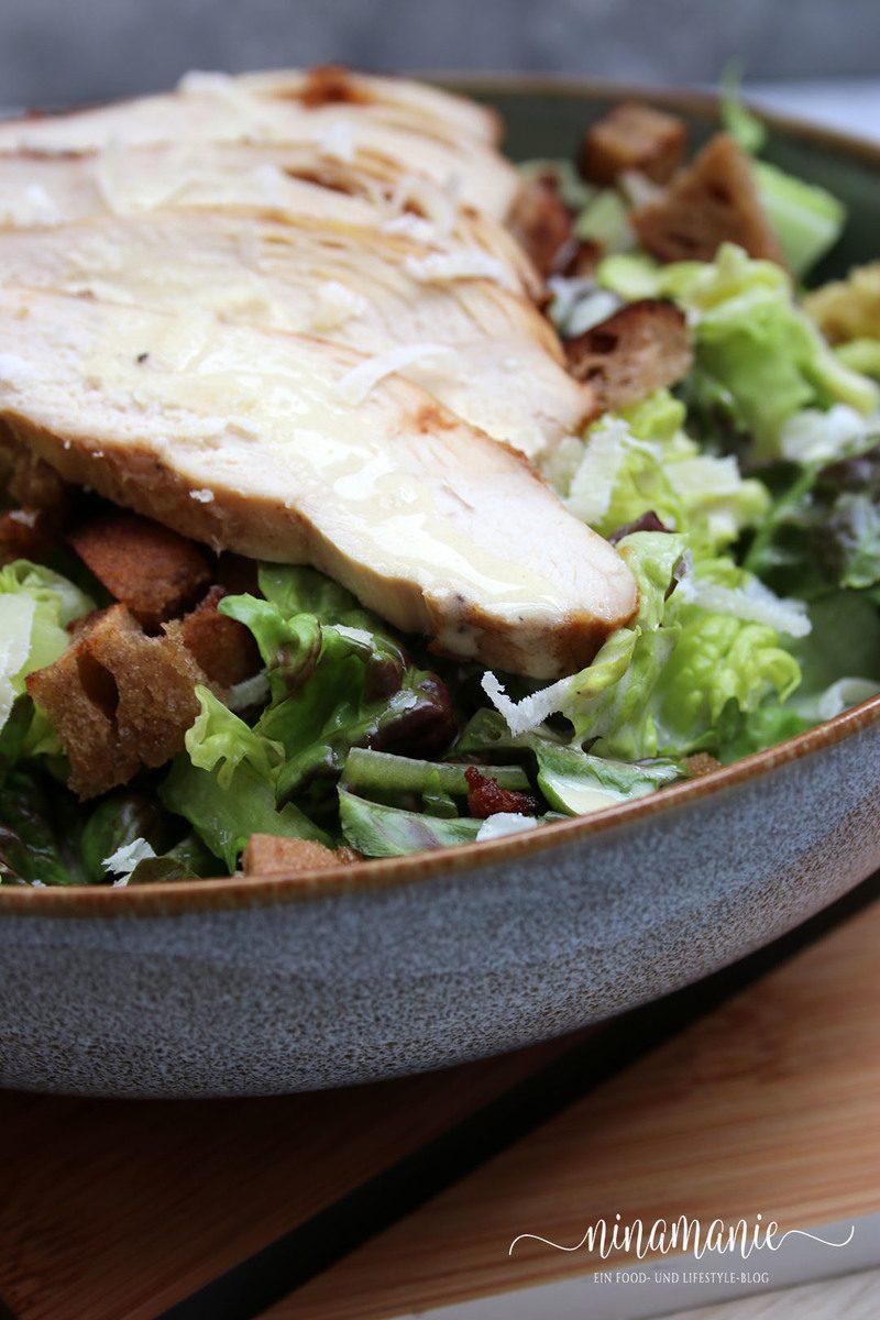 Rezept Schneller Caesar Salad mit Hähnchenbrust