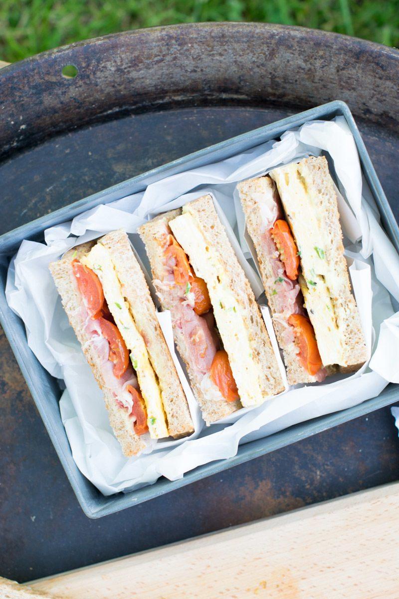 Rezept Schnittlauch-Omelette-Sandwich