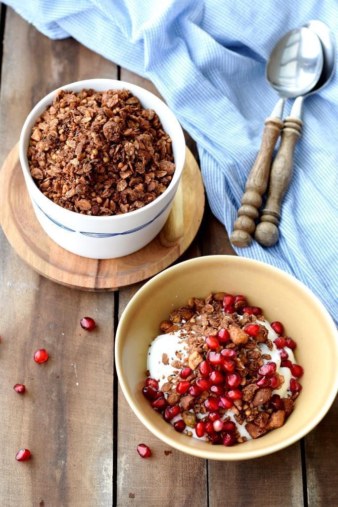 Rezept Schoko-Buchweizen-Granola (Vegan, glutenfrei, ohne Zucker - LECKER)