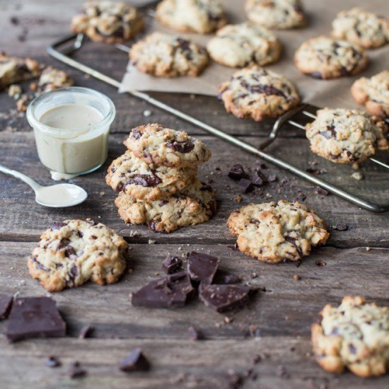 Rezept Schoko-Cookies mit Sesam und Fleur de Sel