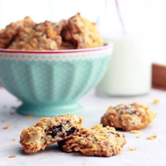 Rezept Schoko-Cornflakes-Cookies