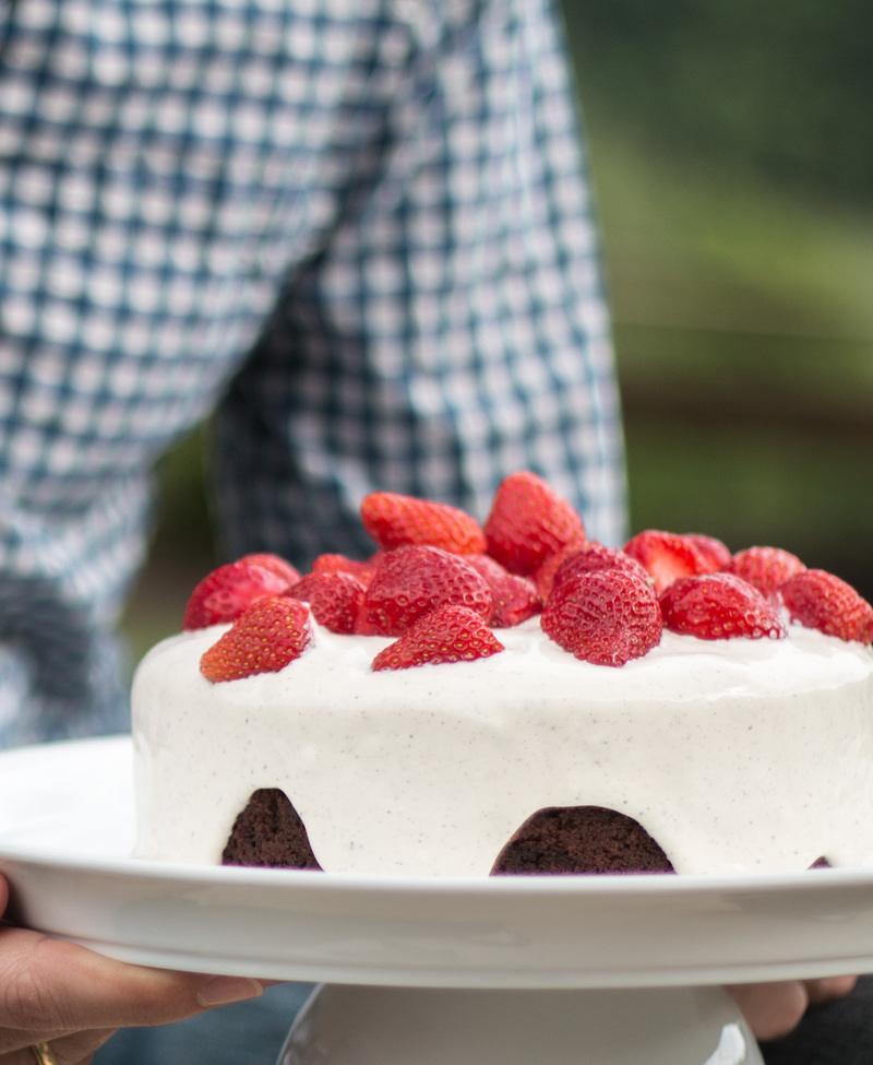 Rezept Schoko & Erdbeer Kuchen