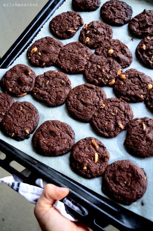 Rezept Schoko-Nuss-Cookies mit Sauerteig