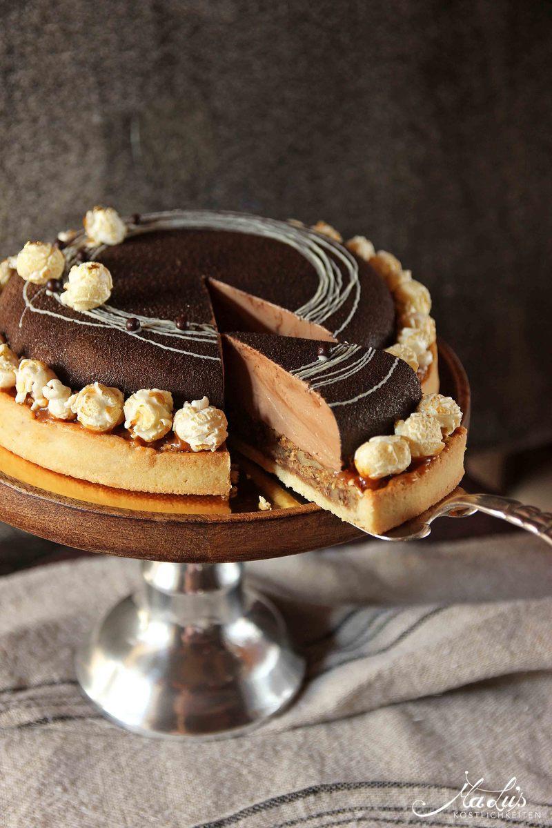 Rezept Schoko-Nuss Torte mit Popcorn