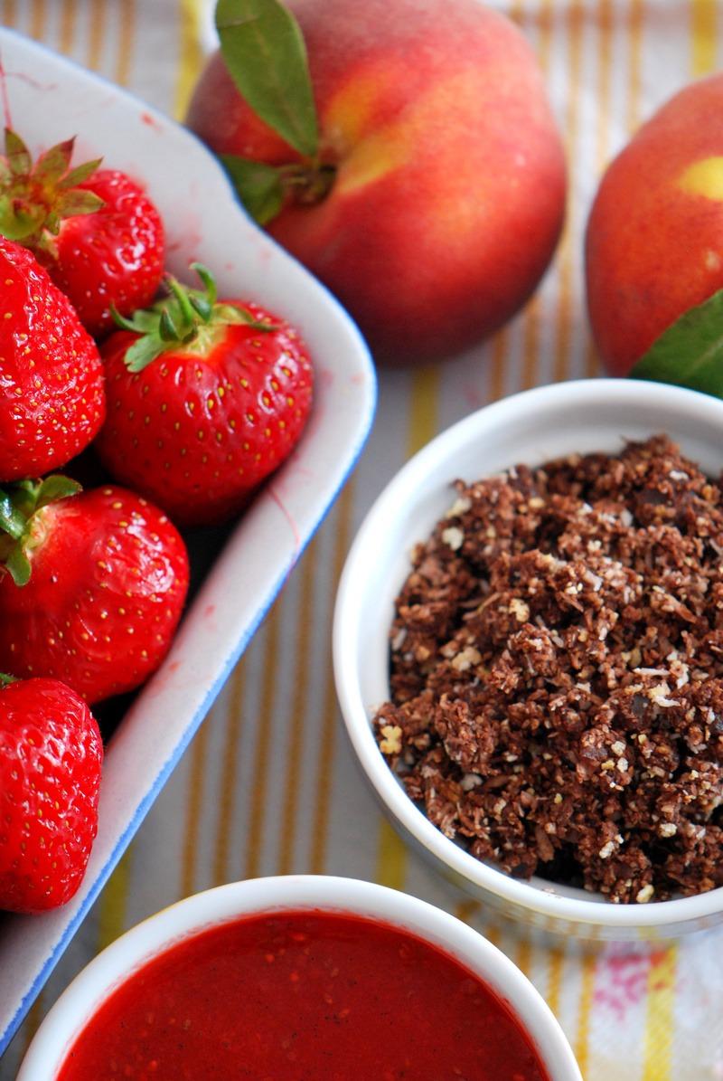 Rezept Schoko Rawnola & Chia-Erdbeer-Konfitür
