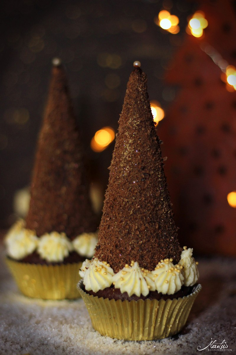 Rezept Schoko-Tannenbaum Cupcakes