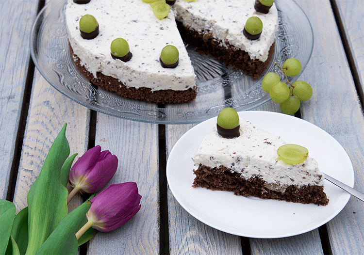 Rezept Schoko-Trauben-Nuss-Torte