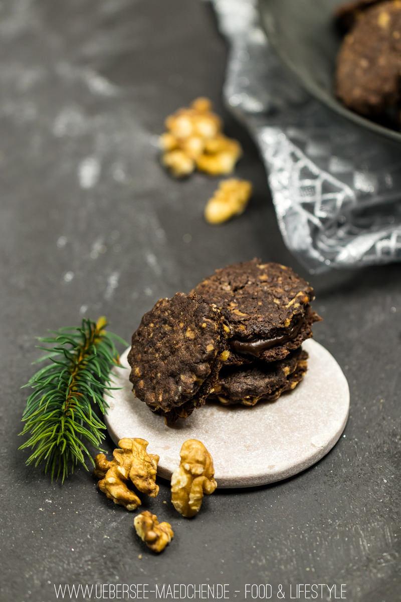 Rezept Schoko-Walnuss-Plätzchen mit Ganache