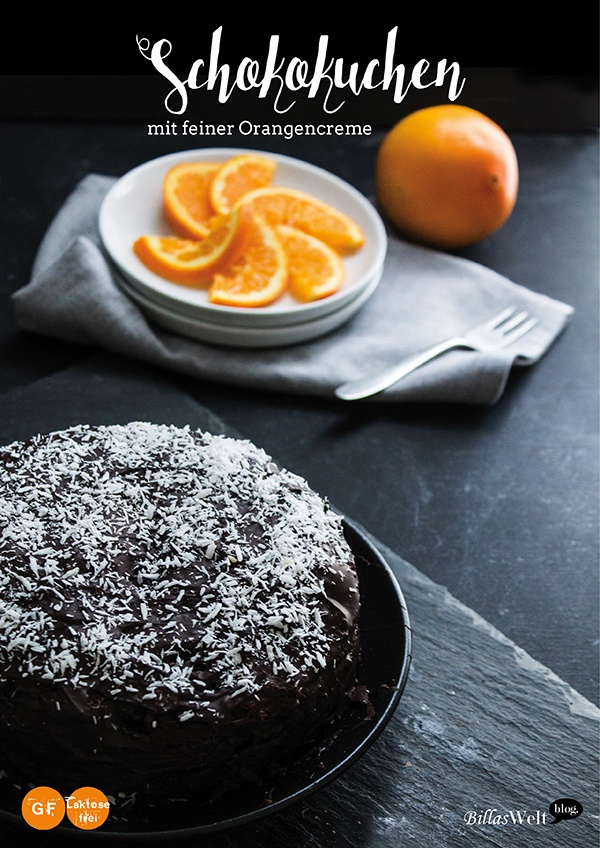 Rezept Schokokuchen mit feiner Orangencreme