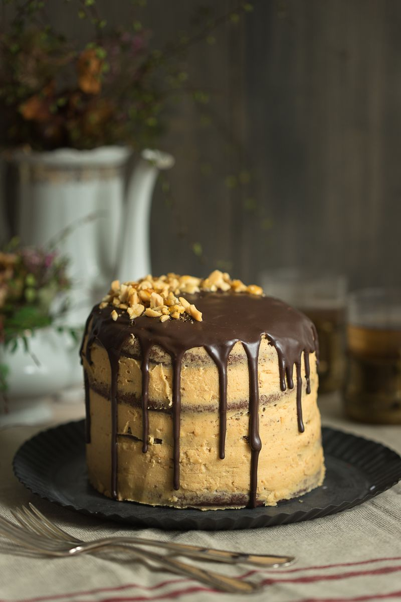 Rezept Schokolade Erdnussbutter Torte