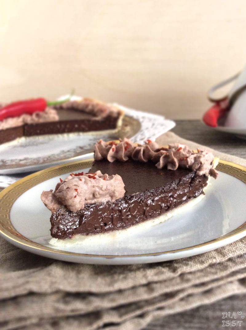 Rezept Schokoladen-Chili-Tarte