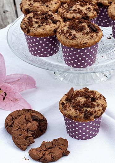 Rezept Schokoladen-Cookie-Muffins