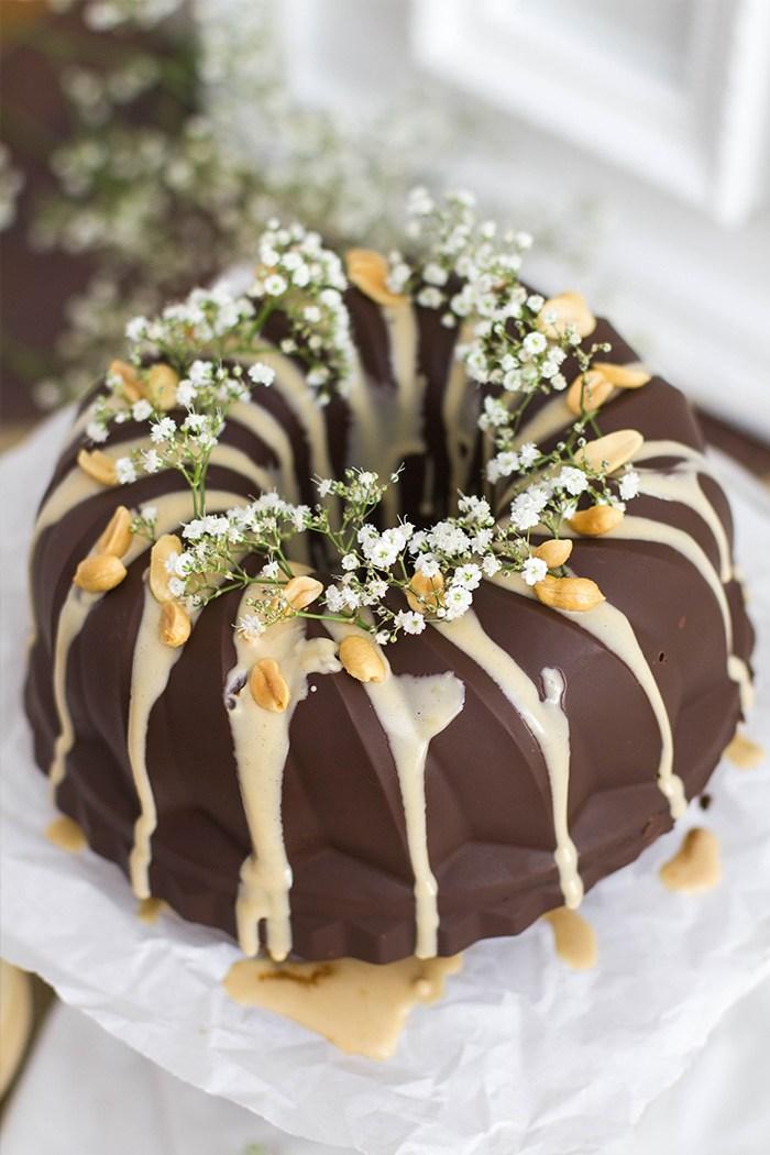 Rezept Schokoladen Erdnussbutter Gugelhupf