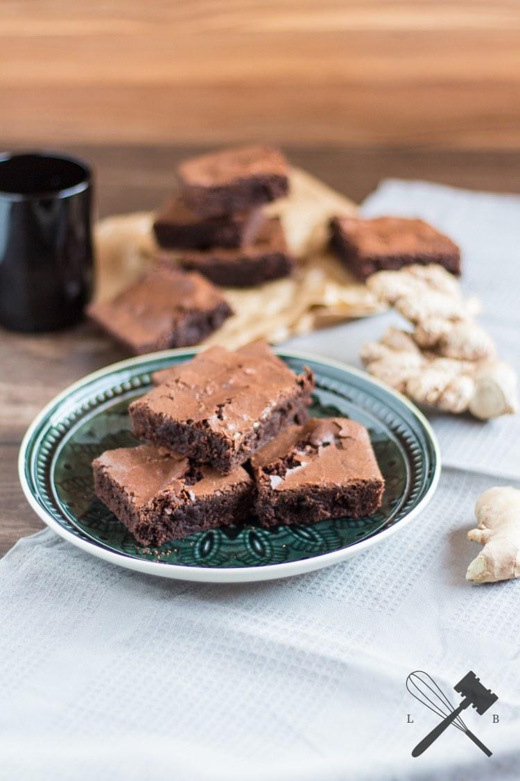 Rezept Schokoladen Ingwer Brownies