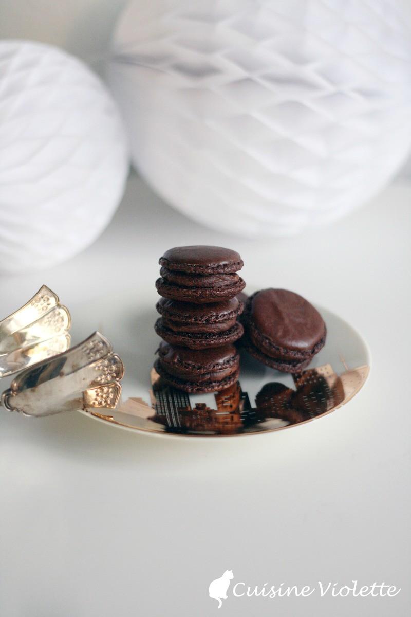 Rezept Schokoladen-Macarons mit Zartbitter-Ganache