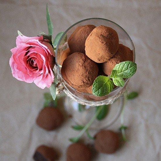 Rezept Schokoladen-Minz Trüffel