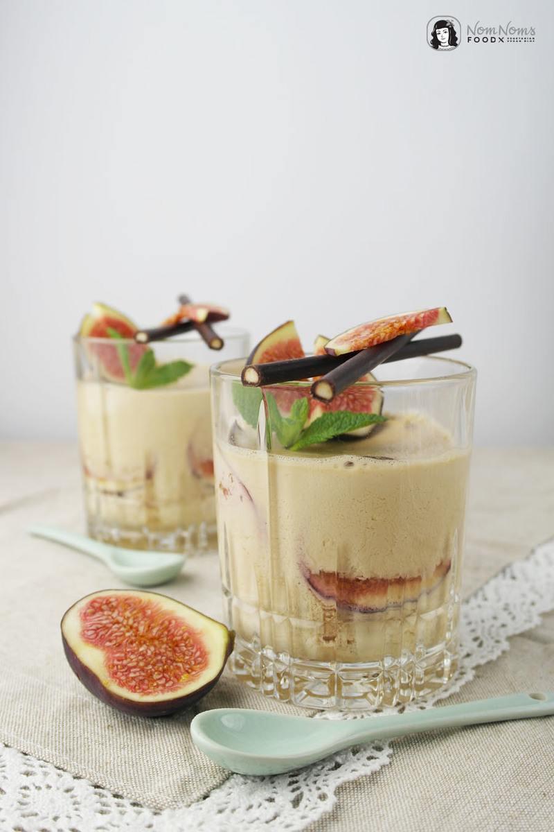 Rezept Schokoladen-Minze-Tee-Panna-Cotta mit Feigen