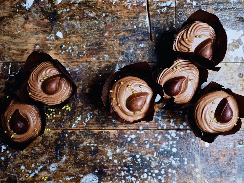 Rezept Schokoladen-Mousse-Cupcakes