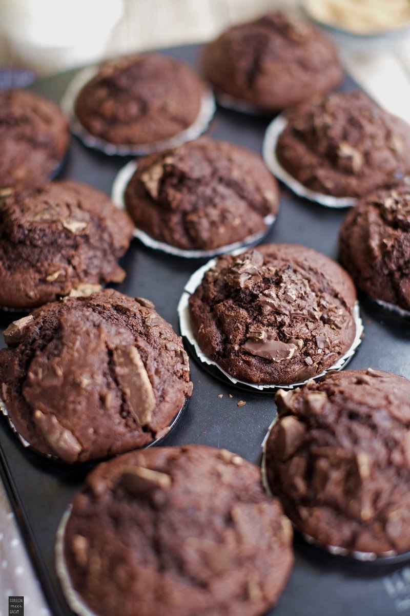Rezept Schokoladen Muffins mit gehackter Schokolade