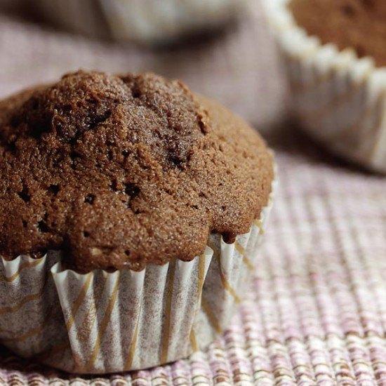 Rezept Schokoladen-Muffins mit Puddingfüllung