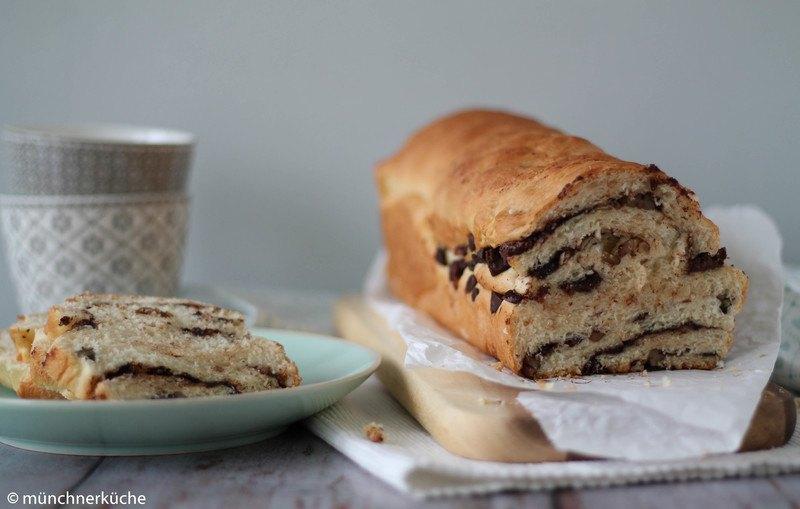 Rezept Schokoladen-Pekanuss-Brot