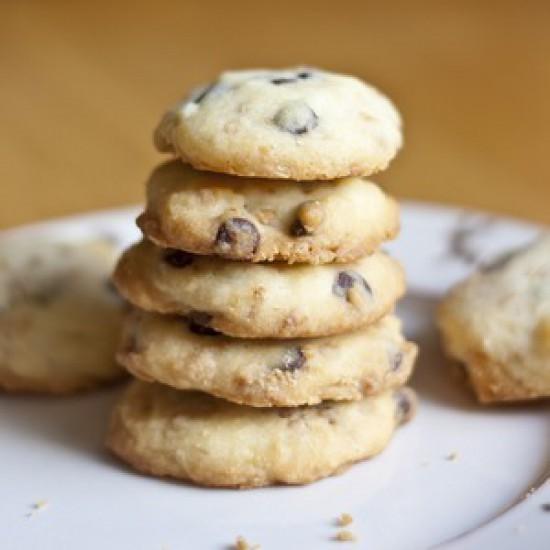 Rezept Schokoladen und Krokant Shortbread Kekse