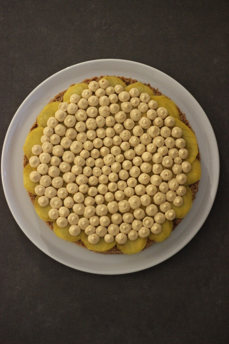 Rezept Schokoladenbiskuit-Torte mit Mango, Kaffeelikör und Dulce de Leche