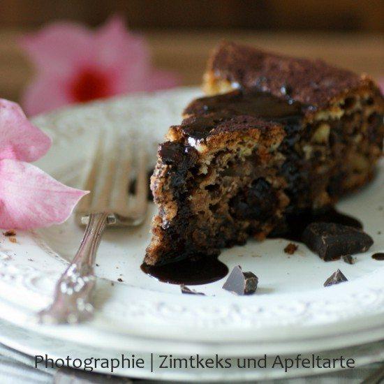 Rezept Schokoladenkuchen mit Cranberries und Pinienkernen