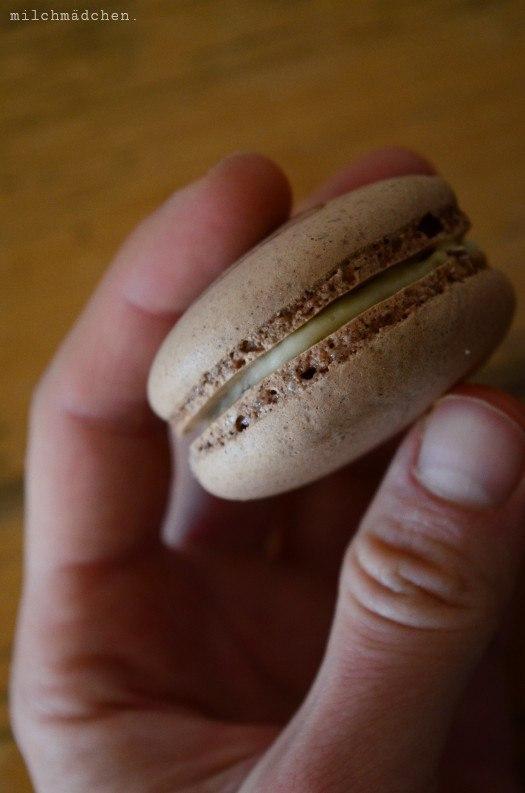 Rezept Schokoladenmacarons mit Vanillebuttercreme