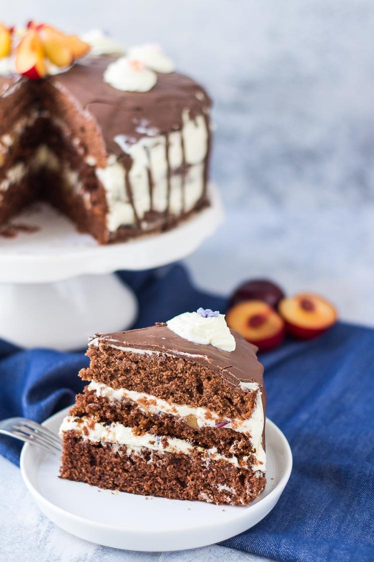 Rezept Schokoladentorte mit Mascarpone-Frischkäse Creme