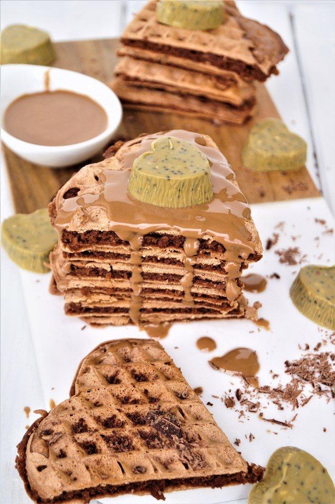 Rezept Schokoladenwaffeln mit Walnuss Tahini Sauce