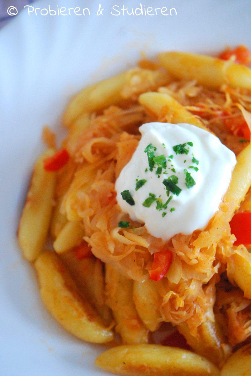 Rezept Schupfnudeln mit Paprika-Sauerkraut