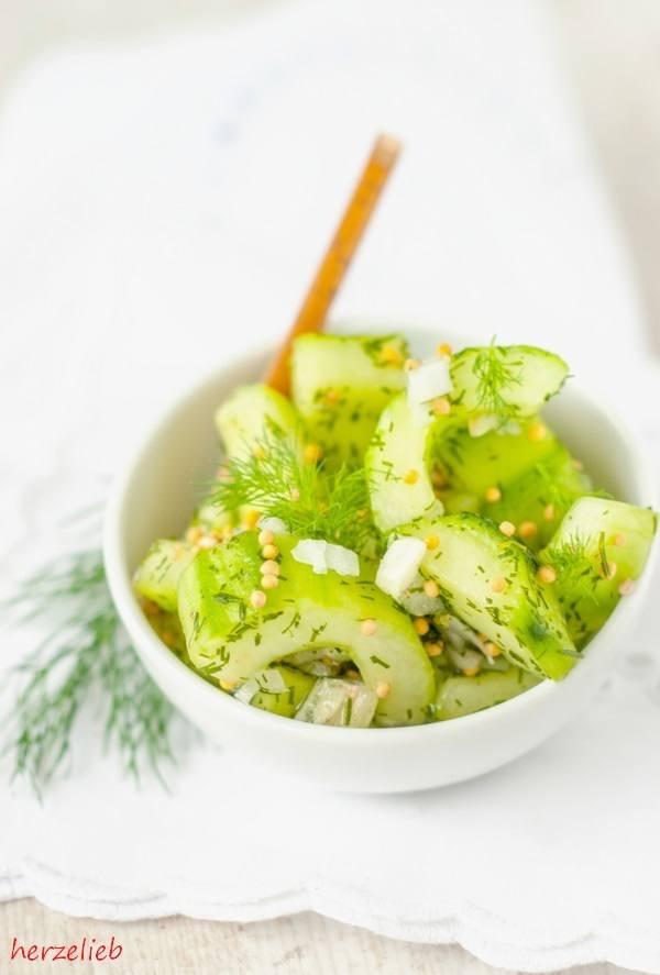 Rezept Schüttelgurken - leichter Beilagensalat