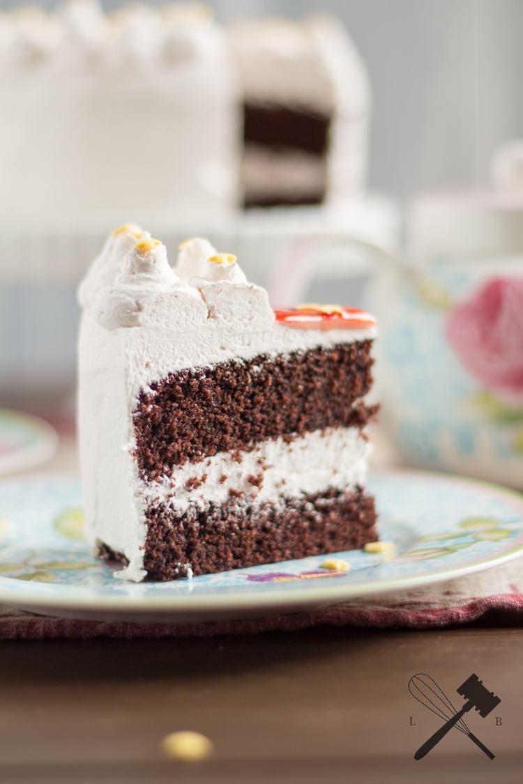 Rezept Schwarz-Weiß Torte mit Ribiselgelee