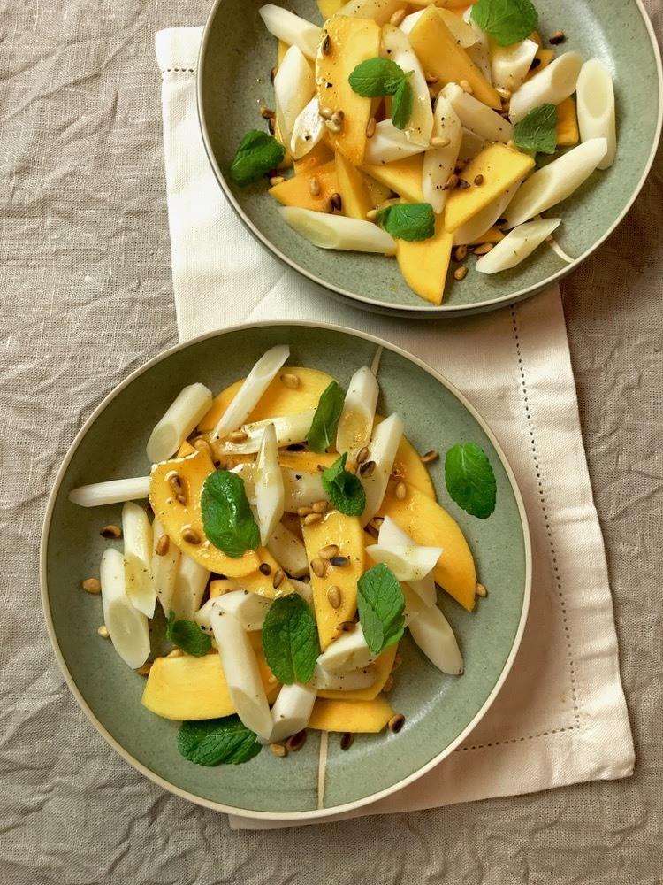 Rezept Schwarzwurzel-Kaki-Salat mit Vanilledressing